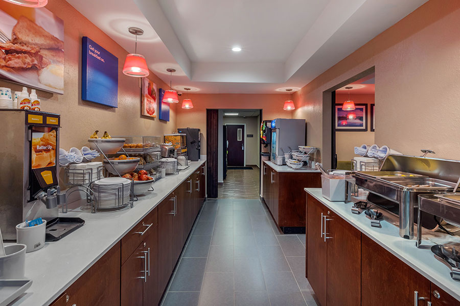 hot breakfast buffet at Comfort Inn & Suites Montgomery